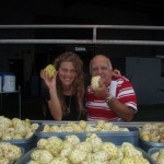 Marie-Laure Ankaoua & Uncle Herbert With Some Ripe Noni