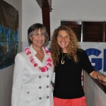 Marie-Laure Ankaoua with Governor Linda Lingle
